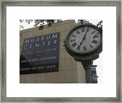 Historic Clock Keeps Time With Milwaukee Public Museum Framed Print