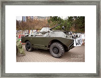 Historic Combat Vehicle Martial Law Framed Print
