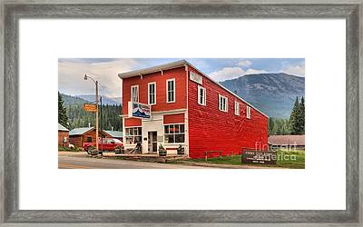Historic Cooke City Store Framed Print by Adam Jewell