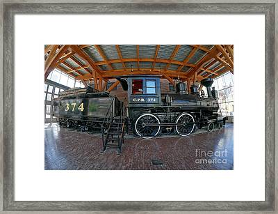Historic Canadian Pacific Railway Engine Fisheye Framed Print