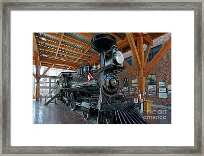 Historic Canadian Pacific Railway Steam Engine Framed Print