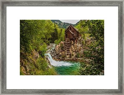 Historic Crystal River Mill  Framed Print