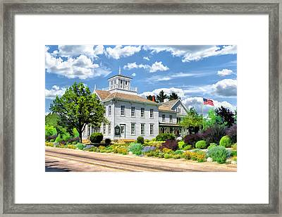 Historic Cupola House In Egg Harbor Door County Framed Print