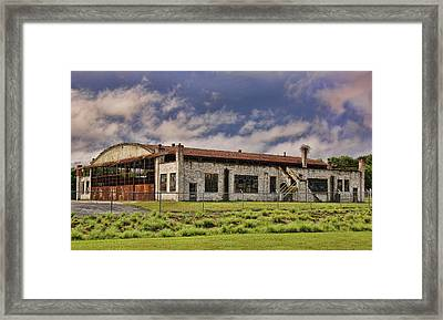 Historic Curtiss Wright Hanger Framed Print by Steven Richardson