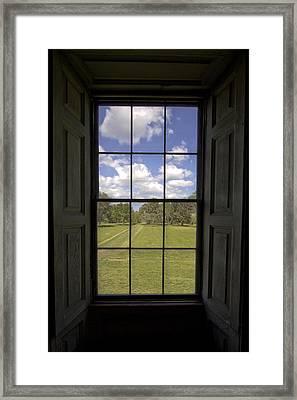 Historic Drayton Hall Window In Charleston South Carolina Framed Print by Dustin K Ryan