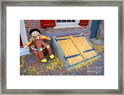 Historic Elfreth Alley - Halloween Framed Print