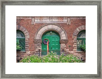 Historic Elks Club Building Geneva New York Framed Print by Edward Fielding