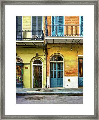 Historic Entrances - Paint Framed Print by Steve Harrington