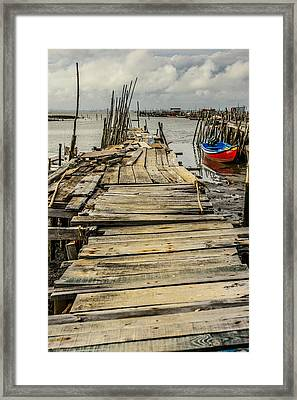 Historic Fishing Pier In Portugal I Framed Print by Marco Oliveira