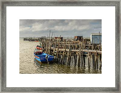 Historic Fishing Pier In Portugal II Framed Print by Marco Oliveira