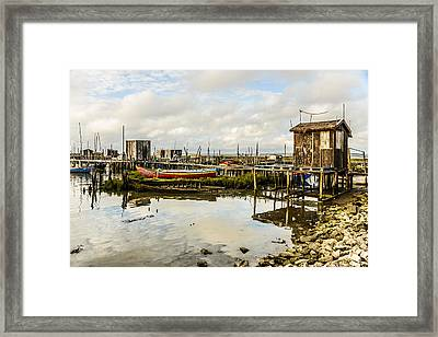 Historic Fishing Pier In Portugal IIi Framed Print by Marco Oliveira