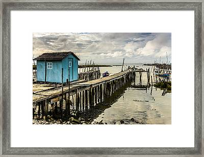 Historic Fishing Pier In Portugal Iv Framed Print by Marco Oliveira