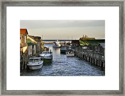 Historic Fishtown Docks Framed Print