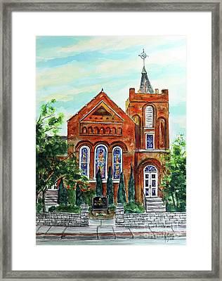 Historic Franklin Presbyterian Church Framed Print by Tim Ross