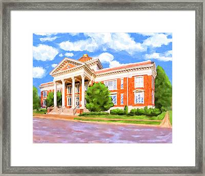 Historic Georgia Southwestern - Americus Framed Print by Mark Tisdale