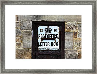 Historic Georgian Letter Box Detail Framed Print by James Brunker