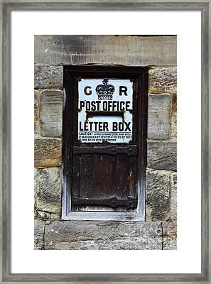 Historic Georgian Post Box Framed Print by James Brunker