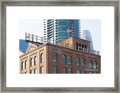 Historic Hills Brothers Coffee Building With Sign San Francisco Dsc5745 Framed Print