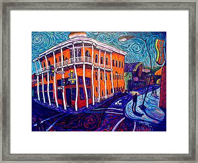 Historic Hotel Weatherford Framed Print by Steve Lawton