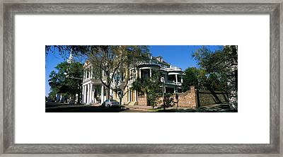 Historic Houses In A City, Charleston Framed Print