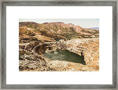 Historic Iron Ore Mine Framed Print