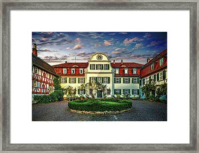 Historic Jestadt Castle Framed Print by Anthony Dezenzio