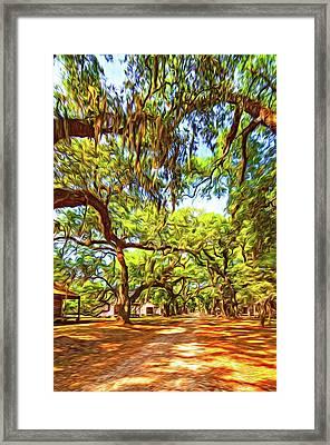 Historic Lane 3 - Paint Framed Print