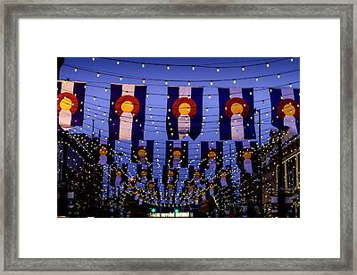 Historic Larimer Square Denver Framed Print