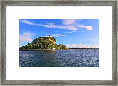 Framed Print featuring the photograph Historic Lighthouse On Chijin Island by Yali Shi