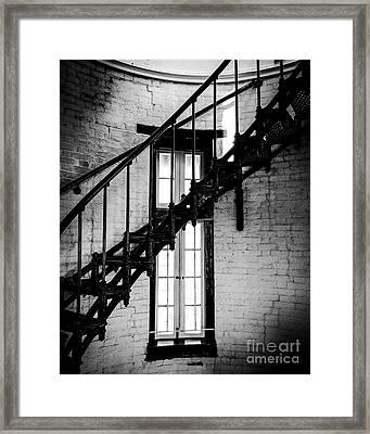 Historic Lighthouse Steps Framed Print by JMerrickMedia