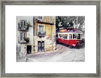 Historic Lisbon Tram Framed Print