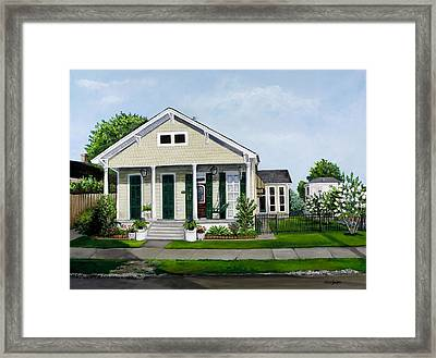 Historic Louisiana Home And Garden Framed Print by Elaine Hodges