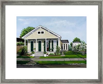 Historic Louisiana Home And Garden Framed Print