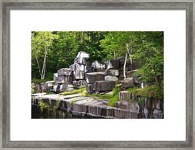Historic Marble Quarry In Dorset, Vermont Framed Print by Lynne Albright