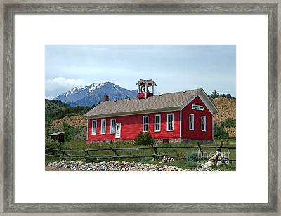 Historic Maysville School In Colorado Framed Print by Catherine Sherman