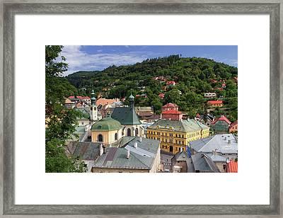 Historic Mining Town Banska Stiavnica, Slovakia Framed Print