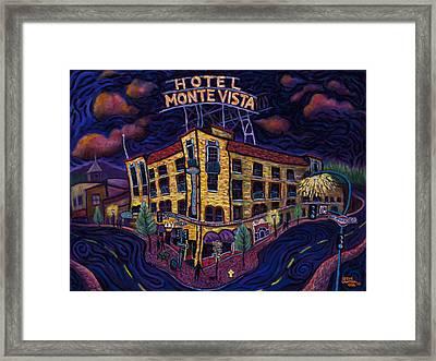 Historic Monte Vista Hotel Framed Print by Steve Lawton