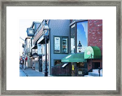 Historic Newport Buildings Framed Print by Nancy De Flon
