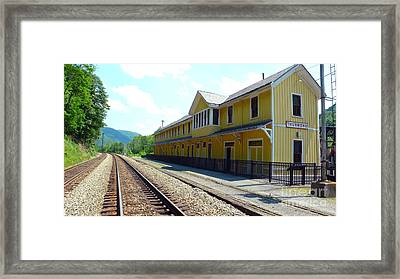 Historic Passenger Train Depot Thurmond West Virginia Framed Print by Thomas R Fletcher