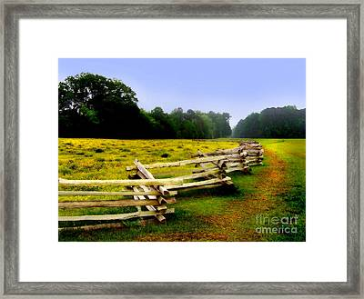 Framed Print featuring the photograph Historic Path Natchez Trace Parkway by T Lowry Wilson
