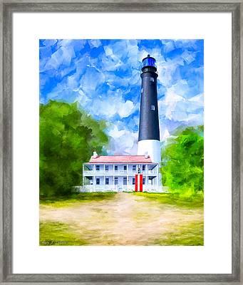Historic Pensacola Light Framed Print