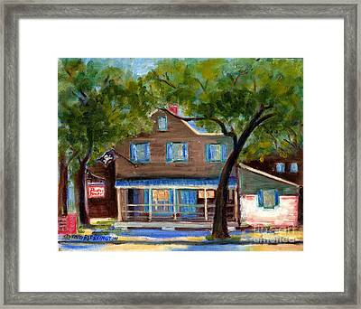 Historic Pirate's House In Savannah Framed Print