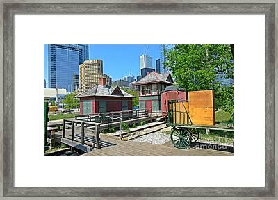 Historic Railway Site In Toronto Framed Print