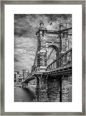 Historic Roebling Bridge Framed Print by Diana Boyd