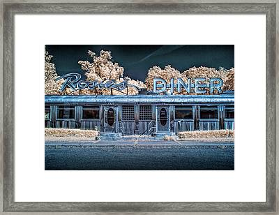 Historic Rosie's Diner In Infrared Near Rockford Michigan Framed Print