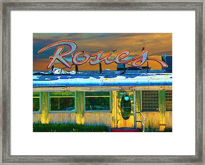 Historic Rosie's Diner Framed Print by Randall Nyhof