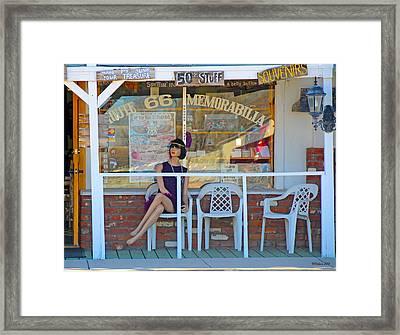 Historic Route 66 Memorabilia Framed Print