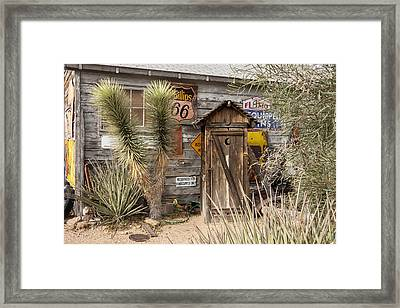 Historic Route 66 - Outhouse 2 Framed Print