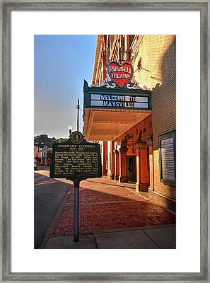 Historic Russell Theatre Framed Print