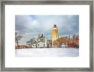 Historic Sandy Hook Lighthouse Framed Print by Geraldine Scull